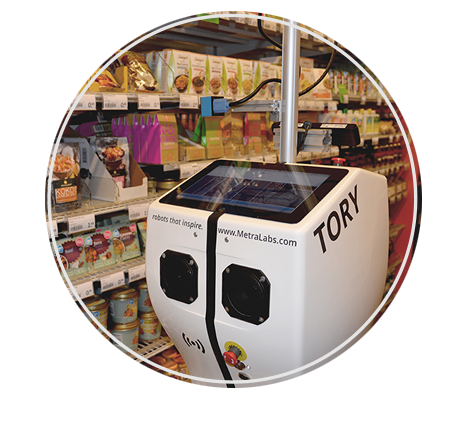 Service robots detect shelf gaps, stock shortages and incorrect price labelling.