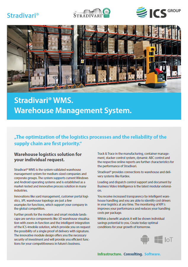 Stradivari® WMS  Warehouse Management System
