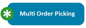 Multi-order picking can significantly increase the efficiency of order picking with a high number of orders with an average number of items and small goods.